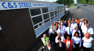 Staff from our Head Office in Bilston gather to mark the firms 50th Anniversary