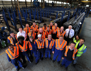 Our Production Team gather to celebrate C&S Steels 50th Anniversary